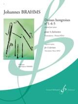 Danses Hongroises N°1-4-5 BRAHMS Partition laflutedepan.com