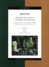 Benjamin Britten - Works for voice & chamber orchestra - Partition - di-arezzo.fr