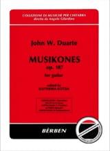 John W. Duarte - Musikones op. 107 - Partition - di-arezzo.fr