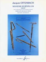 Souvenir de Réveillon Jacques Offenbach Partition laflutedepan.com