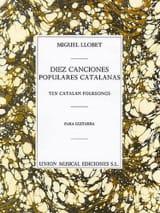 Diez Canciones populares catalanas Miguel Llobet laflutedepan.com