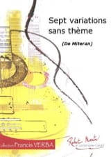 7 Variations sans thèmes Alain Miteran Partition laflutedepan.com