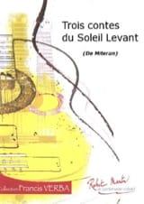 3 Contes du soleil levant Alain Mitéran Partition laflutedepan.com