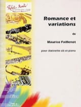 Maurice Faillenot - Romance and Variations - Sheet Music - di-arezzo.co.uk