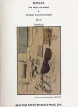 Sonate op. 19 – Alto Serge Rachmaninov Partition laflutedepan.com