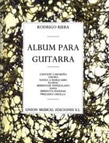 Album para Guitarra Rodrigo Riera Partition Guitare - laflutedepan.com