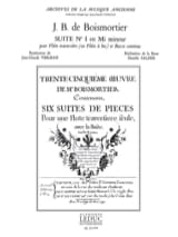 BOISMORTIER - Suite n° 1 en mi mineur - Partition - di-arezzo.fr
