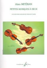 Petites musiques à deux Alain Mitéran Partition laflutedepan.com
