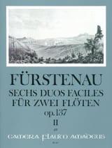 Anton Bernhard Fürstenau - 6 Duos faciles op.137 - Volume 2 - Partition - di-arezzo.fr