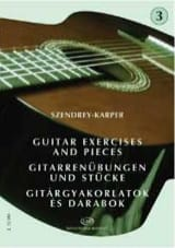 Laszlo Szendrey-Karper - Guitar exercises – Volume 3 - Partition - di-arezzo.fr