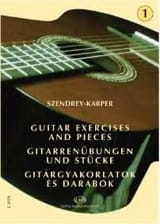 Laszlo Szendrey-Karper - Guitar exercises – Volume 1 - Partition - di-arezzo.fr