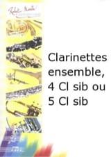 Clarinettes Ensemble Jean-Pierre Pommier Partition laflutedepan.com