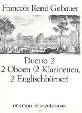 Duetto n° 2 –2 Oboen (2 Klarinetten, 2 Englishhörner) - laflutedepan.com