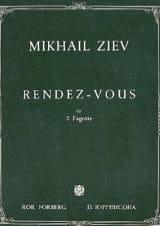 Rendez-vous Mikhail Ziev Partition Basson - laflutedepan.com