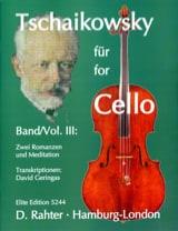 Tschaikowsky for Cello, Volume 3 laflutedepan.com