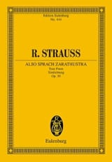 Richard Strauss - Also sprach Zarathustra - Partition - di-arezzo.fr