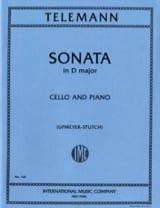 Sonate ré majeur Georg Philipp Telemann Partition laflutedepan.com