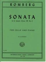 Sonate en sol maj. op. 38 n° 2 - Bernhard Romberg - laflutedepan.com