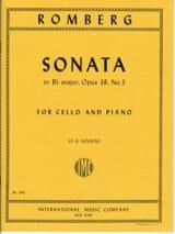 Sonate en si bémol maj. op. 38 n° 3 Bernhard Romberg laflutedepan.com