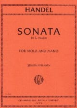 HAENDEL - Sonata in C major - Viola - Partition - di-arezzo.fr