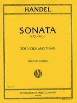 HAENDEL - Sonata in G minor - Viola - Partition - di-arezzo.fr