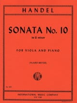 Sonata n° 10 in G minor - Viola HAENDEL Partition laflutedepan.com