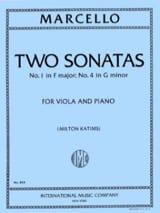 Benedetto Marcello - 2 Sonates - N°1 En Fa Maj et N°2 En Sol Min. - Partition - di-arezzo.fr