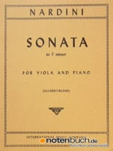 Sonata in F minor Pietro Nardini Partition Alto - laflutedepan