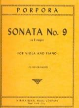 Sonata n° 9 in E major Nicola Antonio Porpora Partition laflutedepan