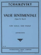 TCHAIKOVSKY - Valse sentimentale op. 51 n° 6 - Partition - di-arezzo.fr