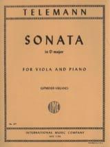 Sonata in D major Georg Philipp Telemann Partition laflutedepan.com
