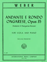 Carl Maria von Weber - Andante e Rondo ongarese - Sheet Music - di-arezzo.co.uk