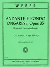 Andante e Rondo ongarese Carl Maria von Weber laflutedepan.com