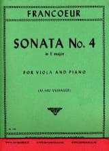 Sonata n° 4 in E major François Francoeur Partition laflutedepan.com