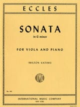 Sonata in G minor - Viola Henry Eccles Partition laflutedepan.com