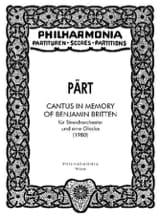Cantus in Memory of Benjamin Britten Arvo Pärt laflutedepan.com