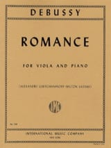 Romance - Claude Debussy - Partition - Alto - laflutedepan.com