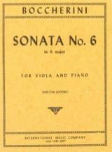 BOCCHERINI - Sonate n° 6 la majeur - Alto - Partition - di-arezzo.fr