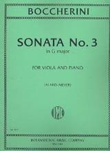 Luigi Boccherini - Sonate n° 3 sol majeur – Alto - Partition - di-arezzo.fr