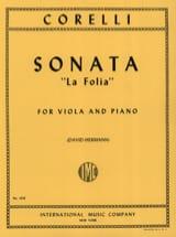 Arcangelo Corelli - Sonate La Folia op. 5 n° 12 - Partition - di-arezzo.fr
