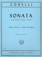 CORELLI - Sonata in D minor, op. 5 n ° 8 - Sheet Music - di-arezzo.com