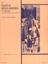 3 Pieces, n° 3 en ut dièze mineur Nadia Boulanger laflutedepan.com