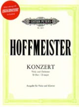 Franz Anton Hoffmeister - Alto Concerto in D major - Sheet Music - di-arezzo.com