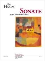 Sonate pour violon et piano Naji Hakim Partition laflutedepan.com
