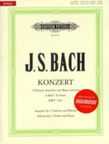 BACH - Concerto 2 Violins BWV 1043 min. - Sheet Music - di-arezzo.co.uk