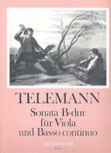 TELEMANN - Sonate B Dur für Viola und Basso continuo - Partition - di-arezzo.fr