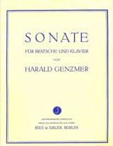 Sonate Harald Genzmer Partition Alto - laflutedepan.com