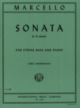 Sonate G minor – String bass Benedetto Marcello laflutedepan.com