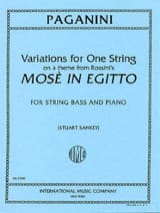 Variations for one string, on a them from Rossini's Mose in Egitto- Bass laflutedepan.com