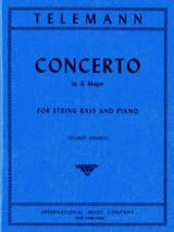 TELEMANN - Concerto in G major - String bass - Sheet Music - di-arezzo.co.uk